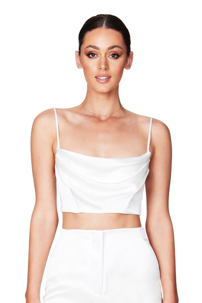 Nookie Dream Draped Crop - Ivory