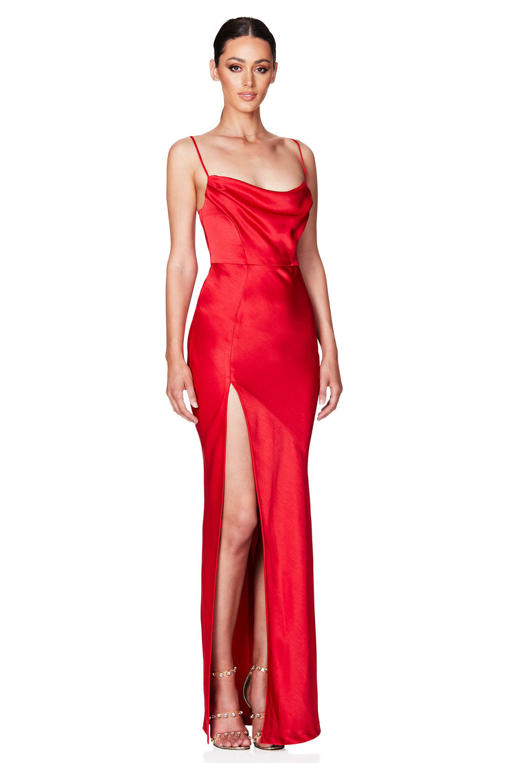 Nookie Dream Draped Gown - Fire