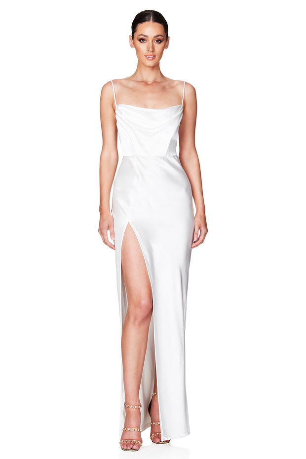 Nookie Dream Draped Gown - Ivory
