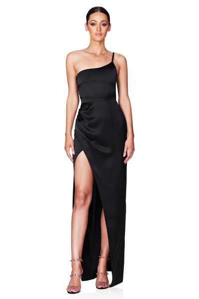 Nookie Grace One Shoulder Gown - Black