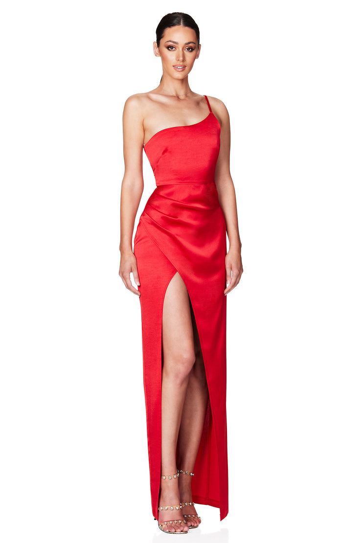 Nookie Grace One Shoulder Gown - Fire
