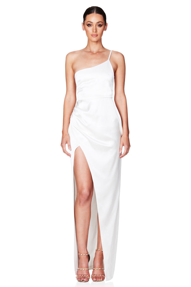 Nookie Grace One Shoulder Gown - Ivory