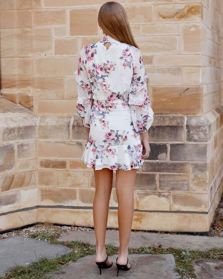 Piper Dress - White Floral
