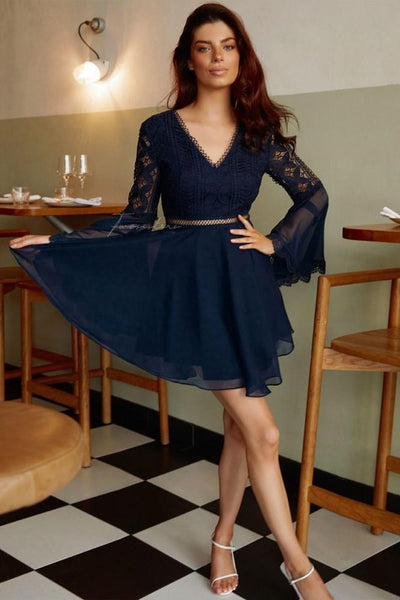 Darcy Dress - Navy