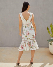 Kaitlyn Dress - Floral White