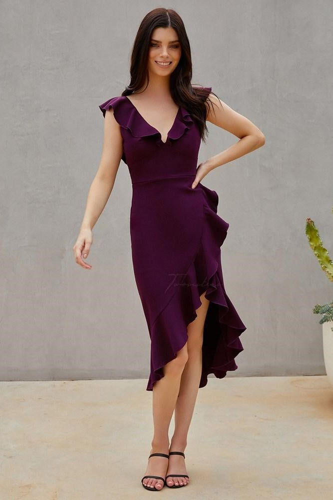 Katie Dress - Dark Purple