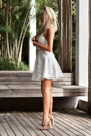 Tessie Dress - White - SHOPJAUS - JAUS