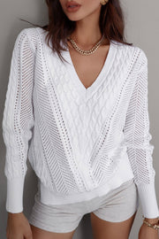 Novah Knit Sweater - White