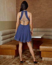 Germaine Dress - Steel Blue