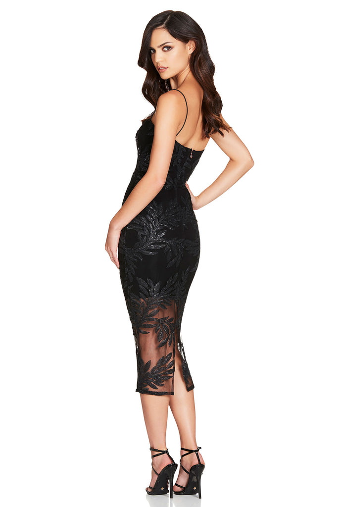 Nookie Vanity Midi Dress - Black