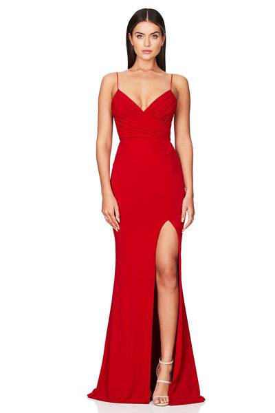 Nookie Venus Gown - Red - SHOPJAUS - JAUS
