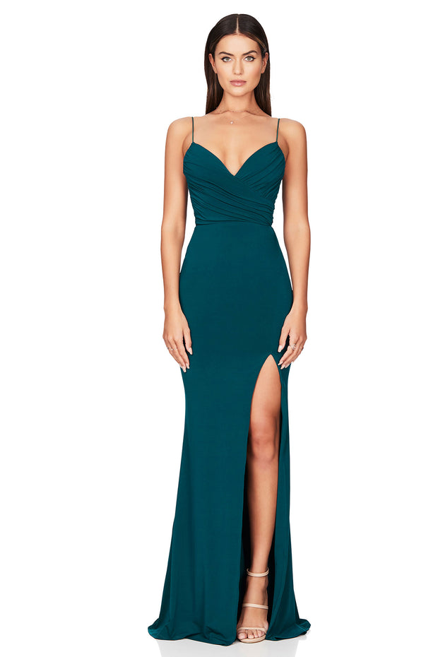 Nookie Venus Gown - Teal - SHOPJAUS - JAUS
