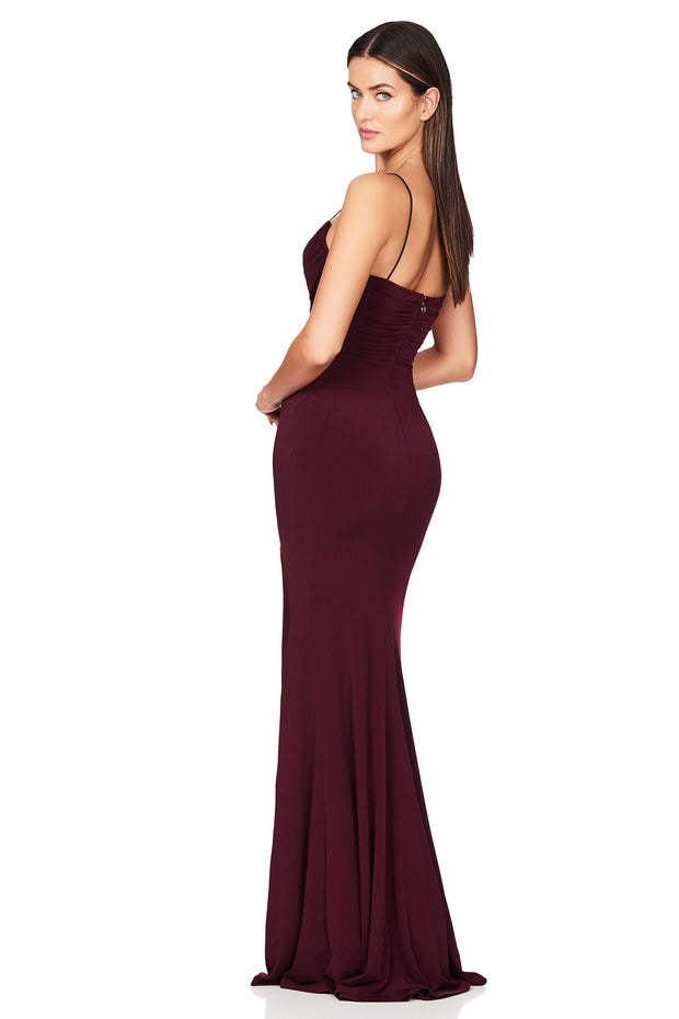 Nookie Venus Gown - Wine - SHOPJAUS - JAUS