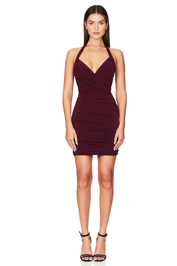 Nookie Venus Mini Dress - Wine - SHOPJAUS - JAUS