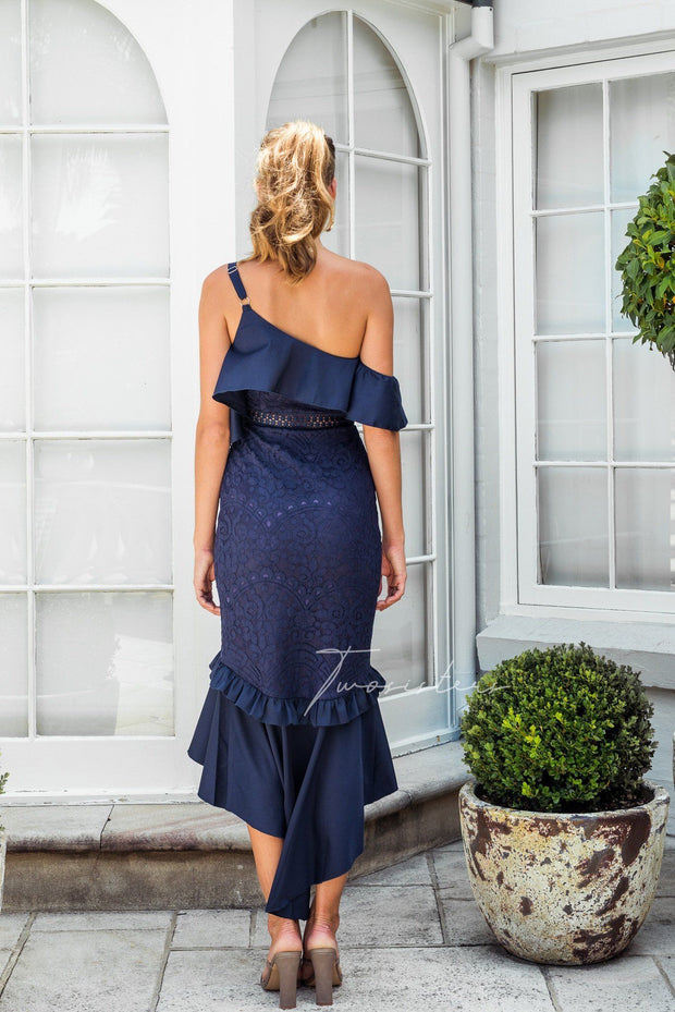 Victoria Dress - Navy - SHOPJAUS - JAUS
