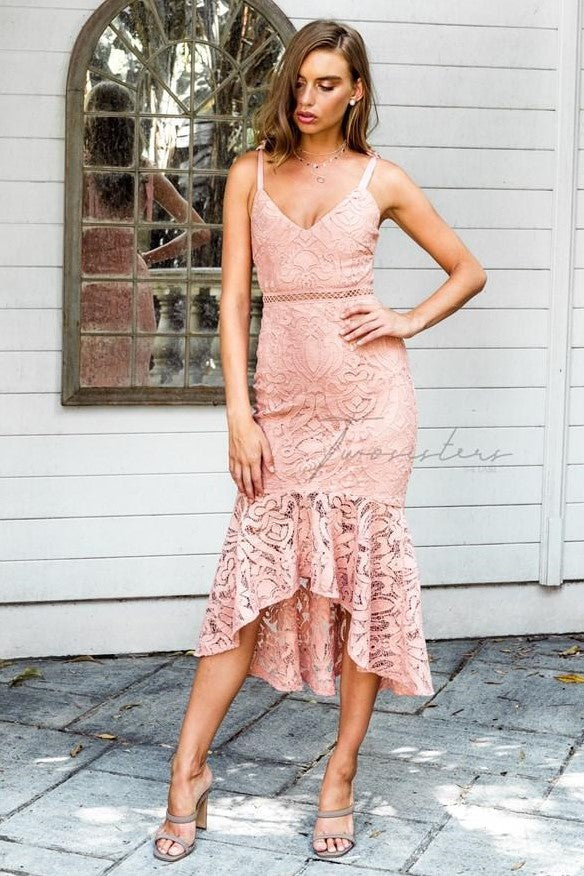 Valentina Dress - Peach - SHOPJAUS - JAUS