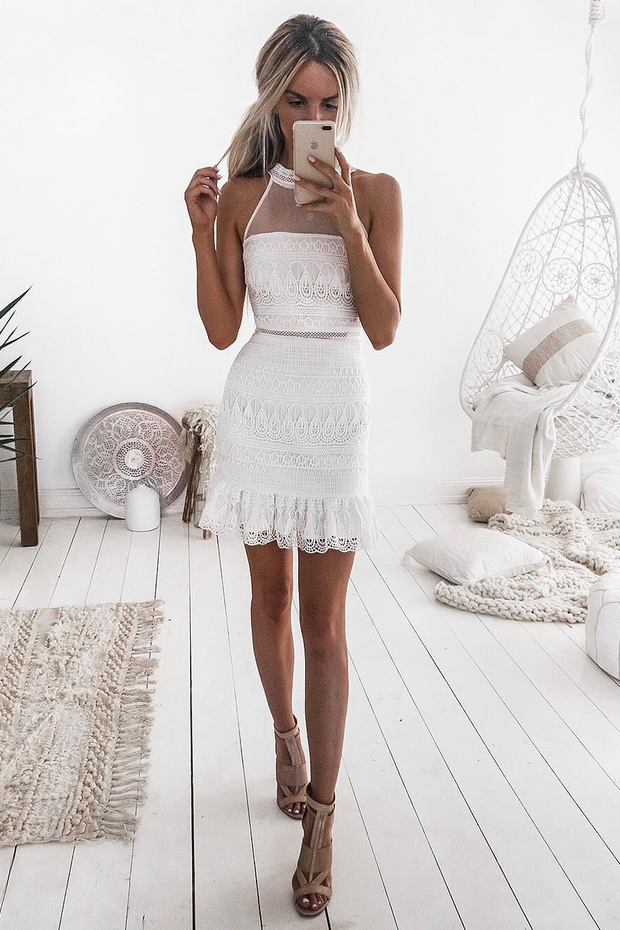 Vicky Dress - White - SHOPJAUS - JAUS