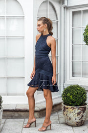 Violet Dress - Navy - SHOPJAUS - JAUS