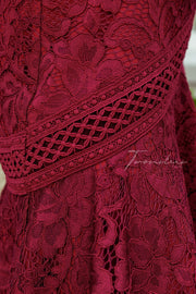 Violet Dress - Red - SHOPJAUS - JAUS