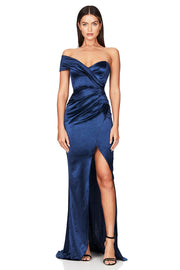 Nookie Zodiac One Shoulder Gown - Navy - SHOPJAUS - JAUS