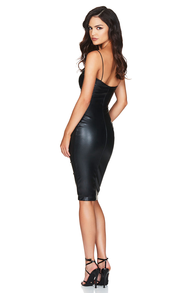 Nookie Zoe Midi Dress - Black - SHOPJAUS - JAUS