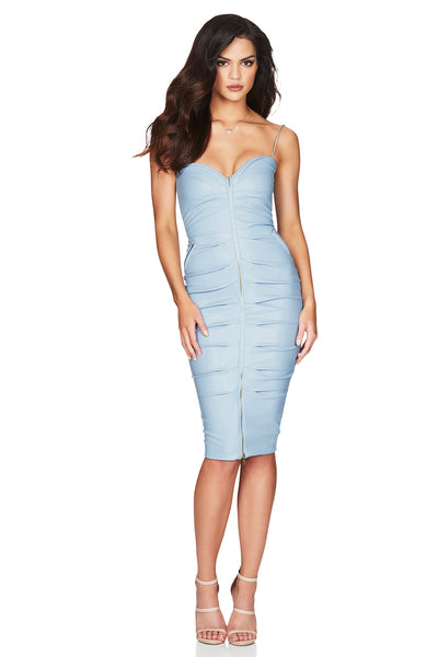 Nookie Zoe Midi Dress - Dusty Blue - SHOPJAUS - JAUS