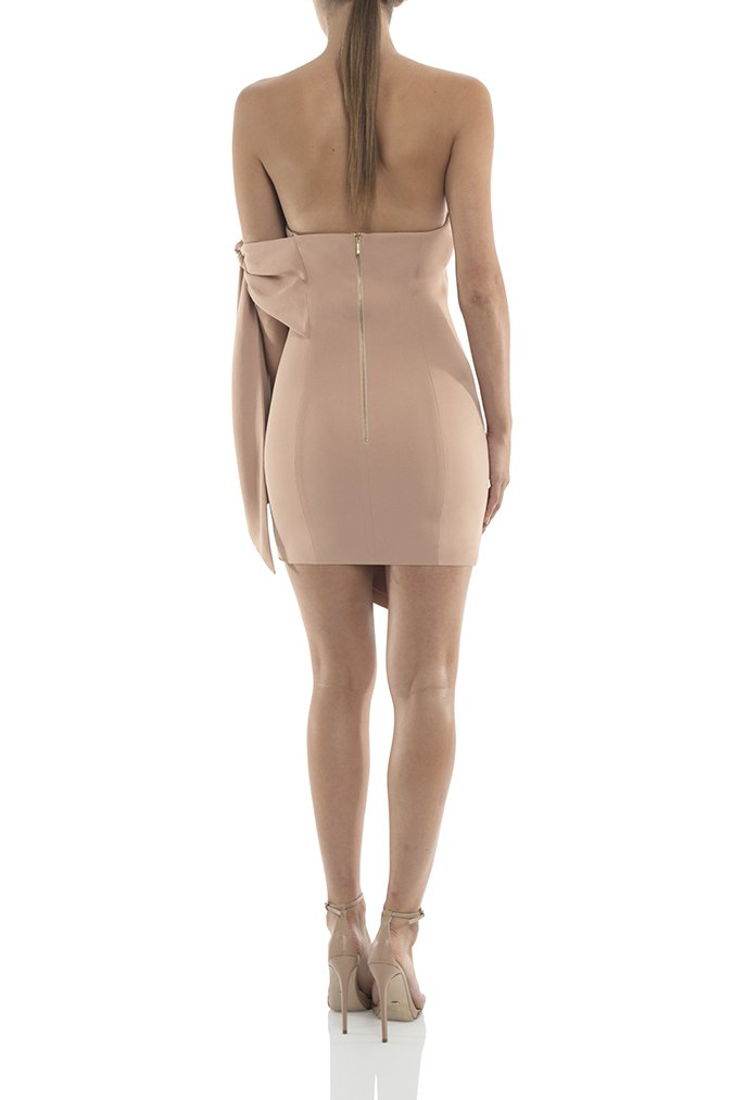 Misha Collection Zora Mini Dress - Nude - SHOPJAUS - JAUS