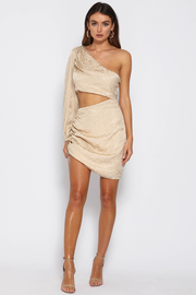 Stella Mini Dress - Champagne - SHOPJAUS - JAUS