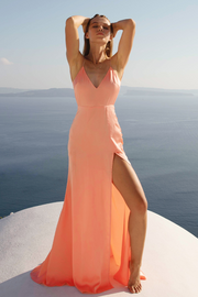 Adeline Maxi Dress - Peach - SHOPJAUS - JAUS