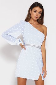 Alira Mini Dress - Sky Blue - SHOPJAUS - JAUS