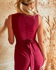 Amanda Jumpsuit - Red - SHOPJAUS - JAUS