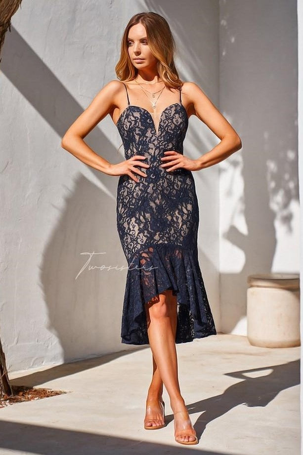 Amylia Dress - Navy - SHOPJAUS - JAUS