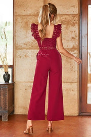 Anastasia Jumpsuit - Red - SHOPJAUS - JAUS