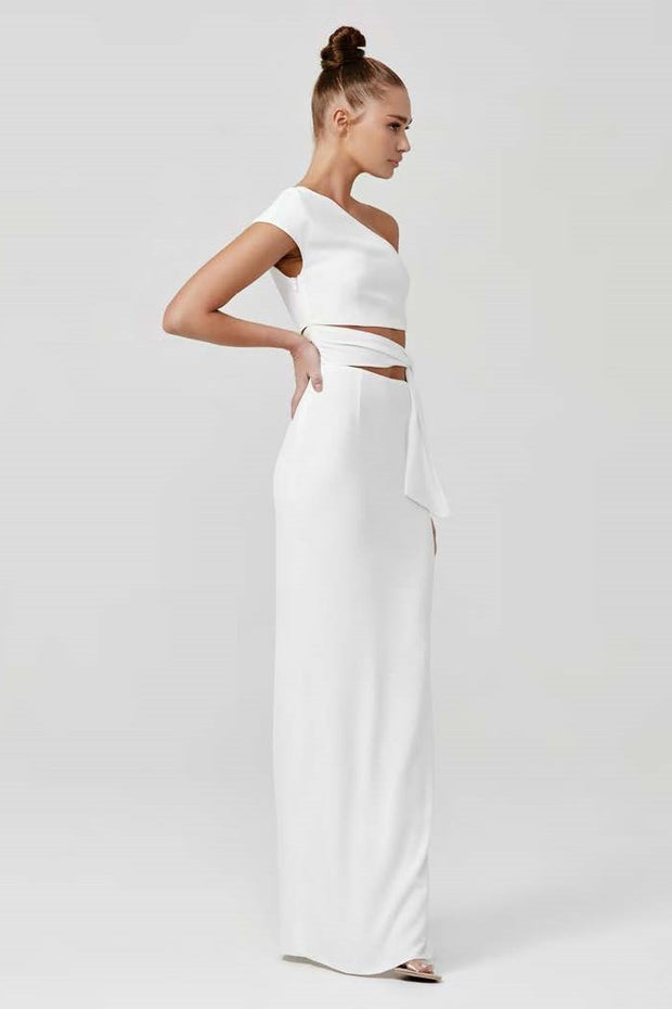 Arianna Dress - White - SHOPJAUS - JAUS
