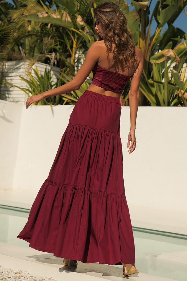 Leilani Maxi Skirt - Wine