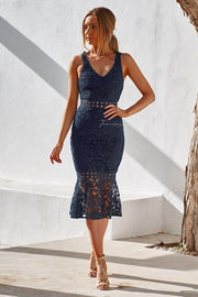 Blair Dress - Navy - SHOPJAUS - JAUS