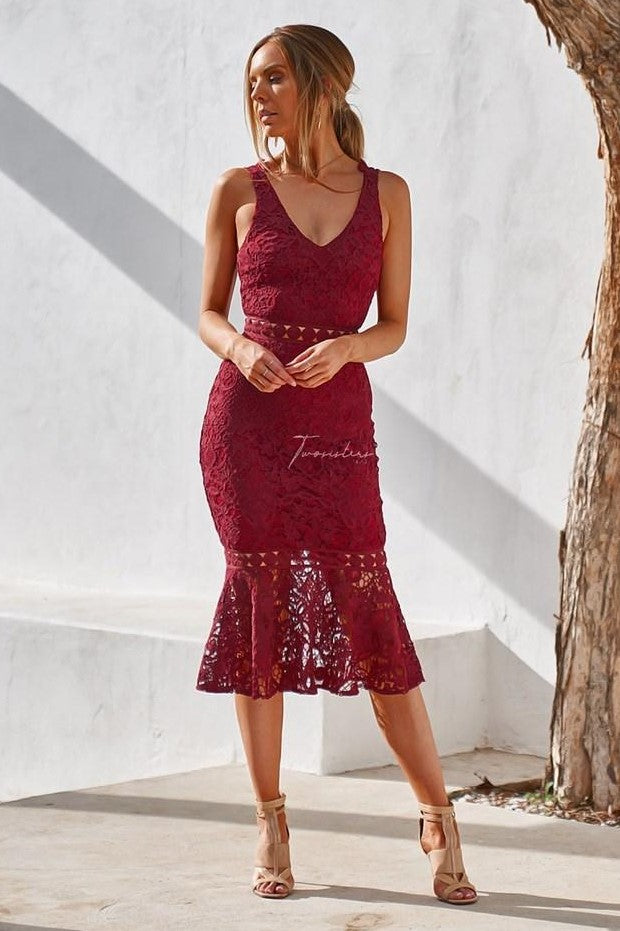 Blair Dress - Red - SHOPJAUS - JAUS