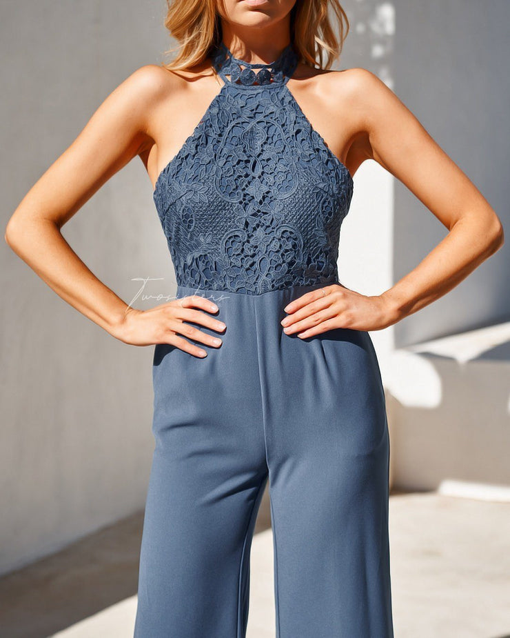 Bree Jumpsuit - Steel Blue - SHOPJAUS - JAUS