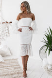 Brianna Dress - White - SHOPJAUS - JAUS