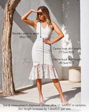 Bridget Dress - White - SHOPJAUS - JAUS