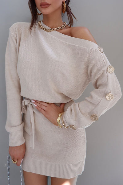 Taylor Knit Dress - Beige