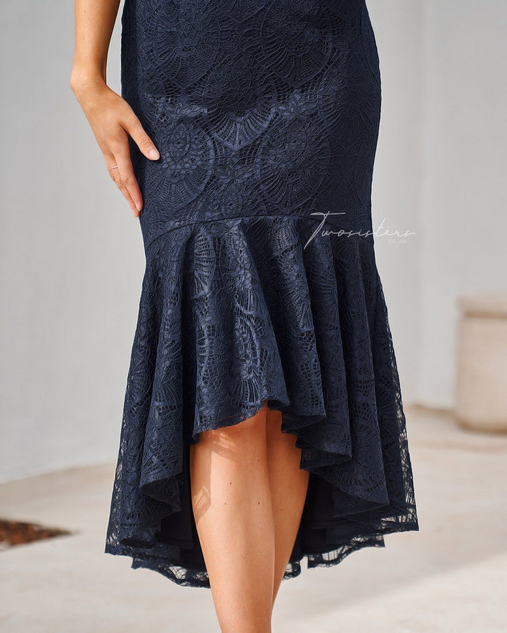 Chantelle Dress - Navy (PREORDER) - SHOPJAUS - JAUS