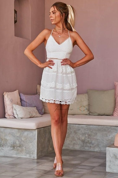 Chelsea Dress - White - SHOPJAUS - JAUS