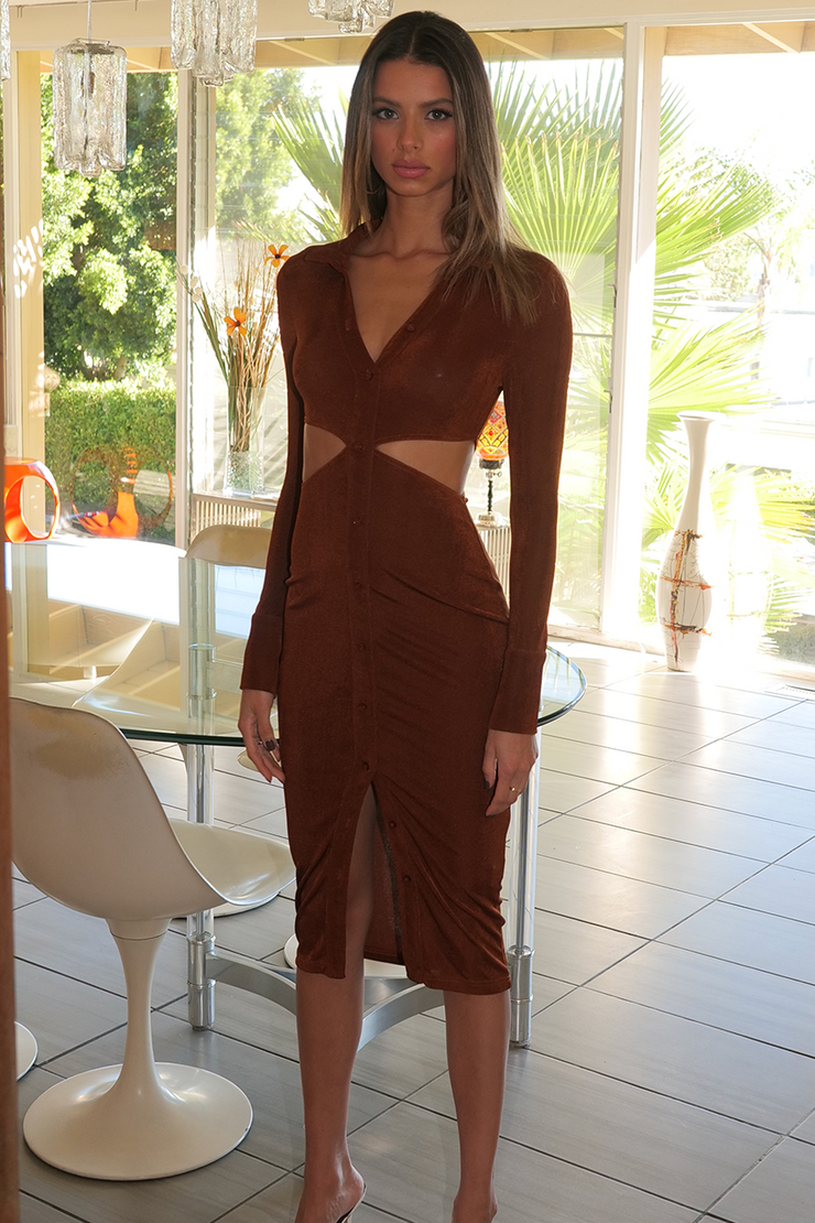 Mercy Long Sleeve Dress - Copper
