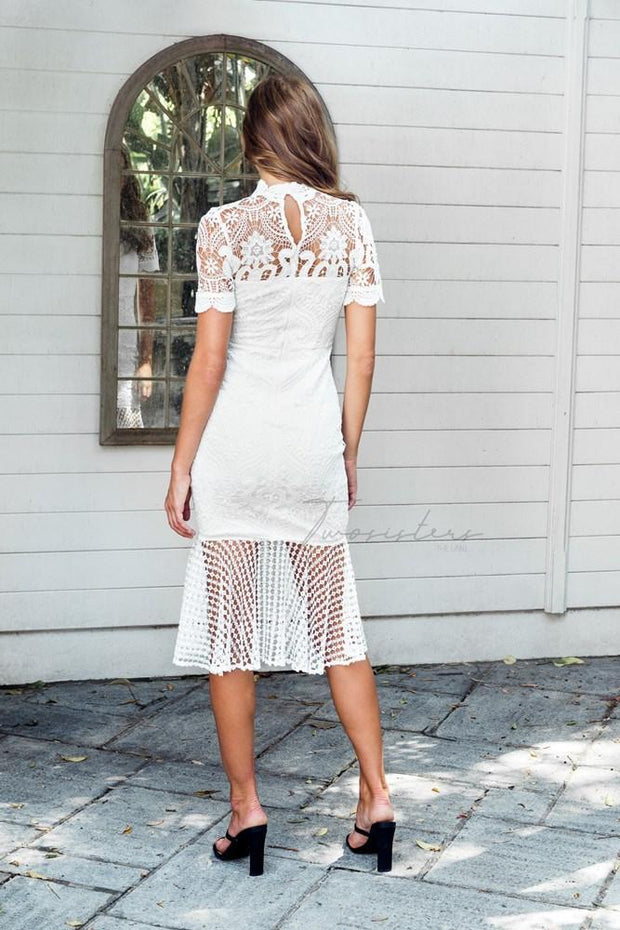 Crystal Dress - White - SHOPJAUS - JAUS