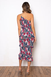 Dark Rose Dress - Navy Floral