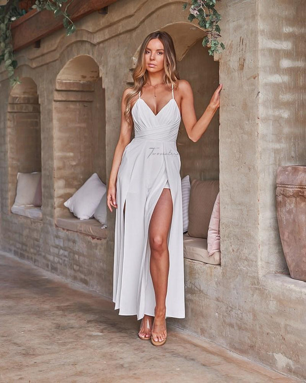 Delaney Jumpsuit - White - SHOPJAUS - JAUS