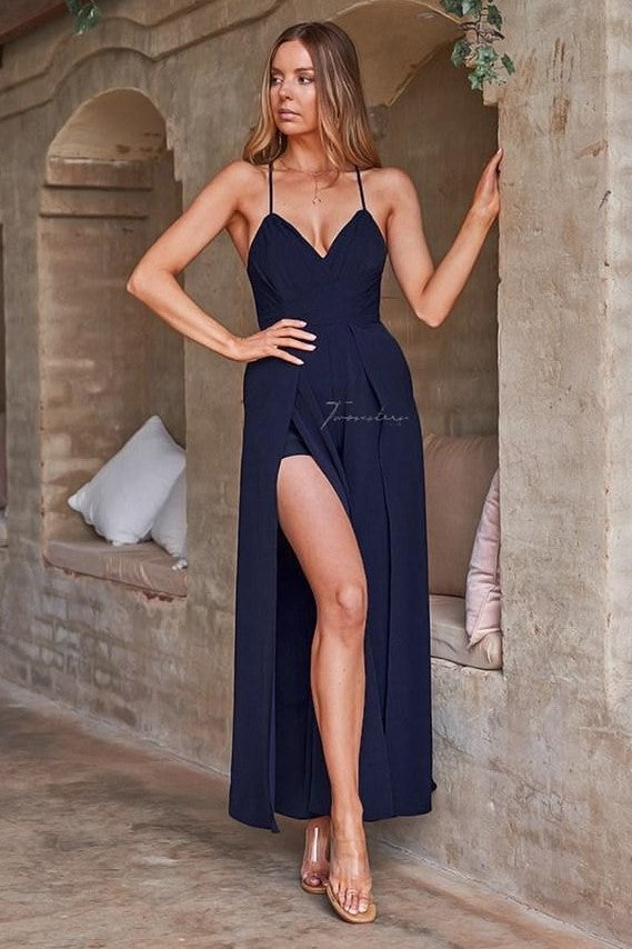 Delaney Jumpsuit - Navy - SHOPJAUS - JAUS