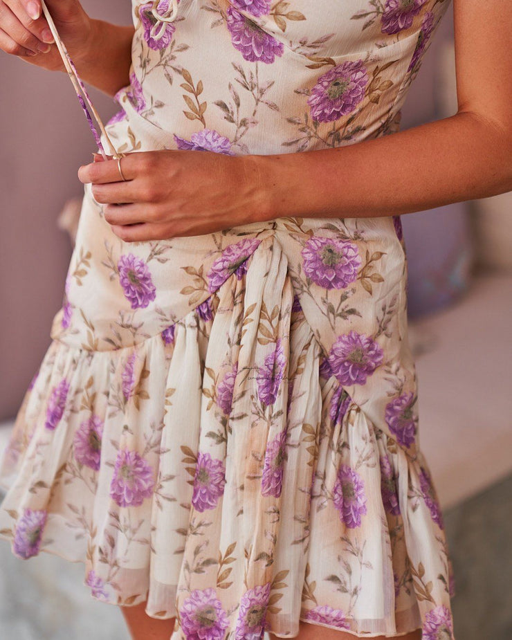Demi Dress - Cream Floral - SHOPJAUS - JAUS