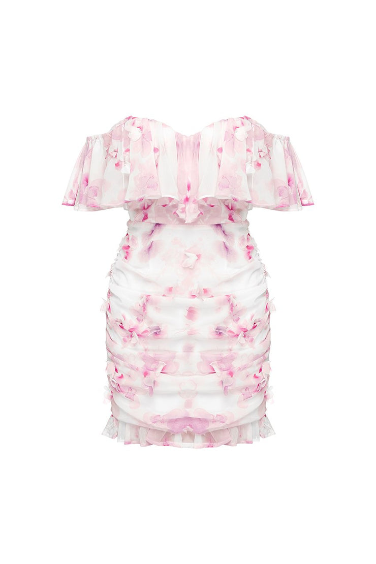 Oriana Dress - Pink/White Floral